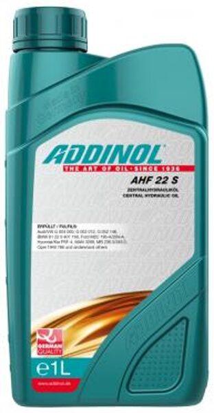 ADDINOL AHF 22 S, LHM, CHF, PSF, Stūres pastiprinātāju un līmeņošanas sistēmu hidrauliskais šķidrums.