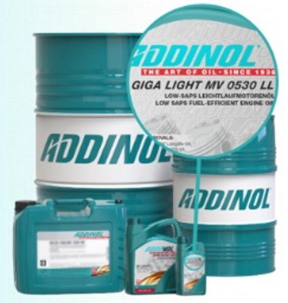ADDINOL Giga Light MV 5w30 LL eļļa, VW 504 00, 507 00, BMW Longlife 04, Mercedes MB 229.31, CNG, LPG