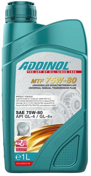 ADDINOL MULTI TRANSMISSION FLUID 75W80, API GL-4+, vieglo automašīnu pārnesumu un sadales kārbas eļļa.