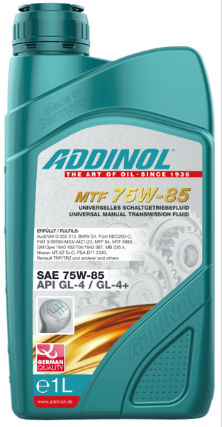 MULTI TRANSMISSION FLUID 75W-85, API GL-4+, veglo automobiļu ātrumkārbas un sadales kārbas eļļa)