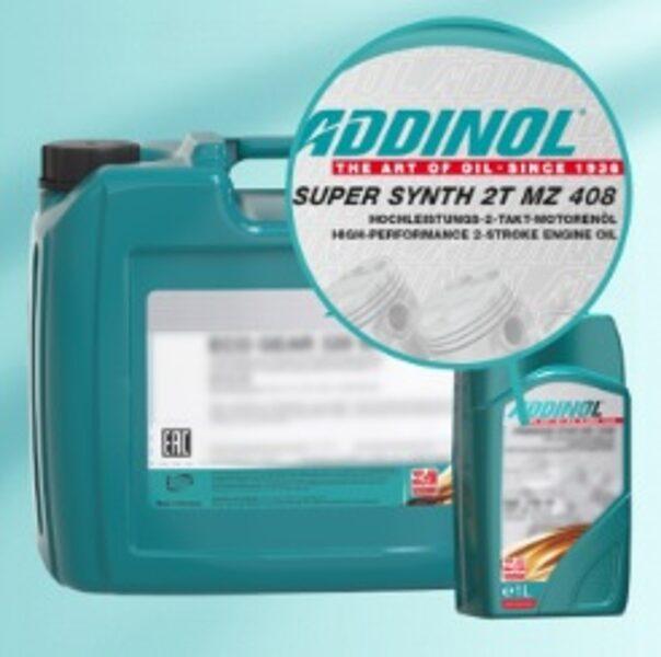 ADDINOL SUPER SYNTH 2T MZ 408, API TC+, tiešās iesmudzināšanas 2T eļļa sniega motocilkiem un citai tehnikai.