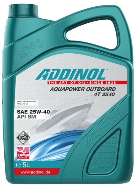 ADDINOL AQUAPOWER OUTBOARD 4T 25w40 (Piekaramo laivu motoru eļļa)