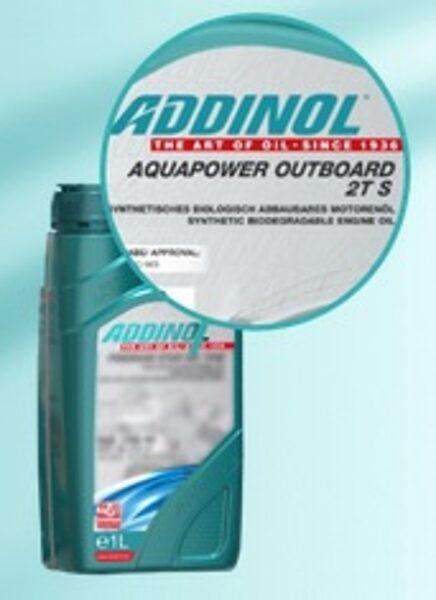 ADDINOL AQUAPOWER OUTBOARD 2T S (Sintētiskā, piekaramo laivu motoru eļļa, Biloloģiski droša, API TC, NMMA TC-W3)