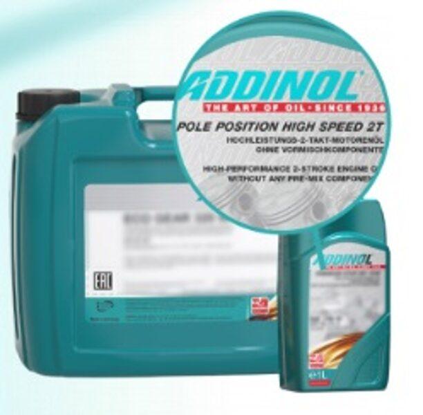 ADDINOL POLE POSITION HIGH SPEED 2T, Pre-mix 2T eļļa, road un off road motosportam.