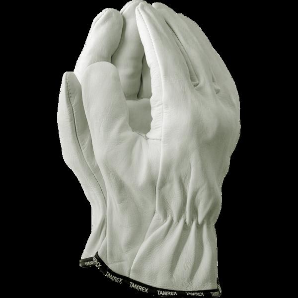 TAMREX izturīgi kazas ādas darba cimdi. EN 420, EN 388:2016 (4.1.2.2.X) Kat 2.