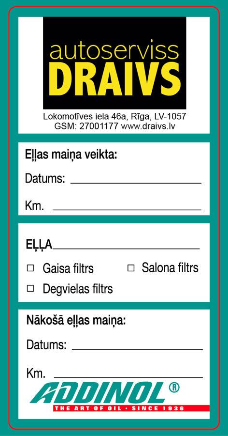 Addinol eļļas maiņa, autoserviss, auto apkope un remonts, Rīgā, Ķengaragā.