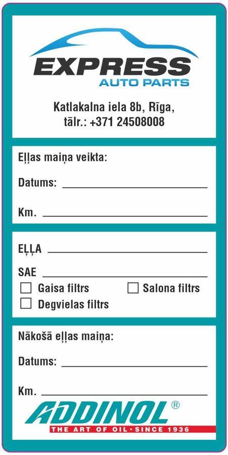 Addinol eļļas maiņa, autoserviss, auto apkope, remonts Rīgā, Pļavniekos.